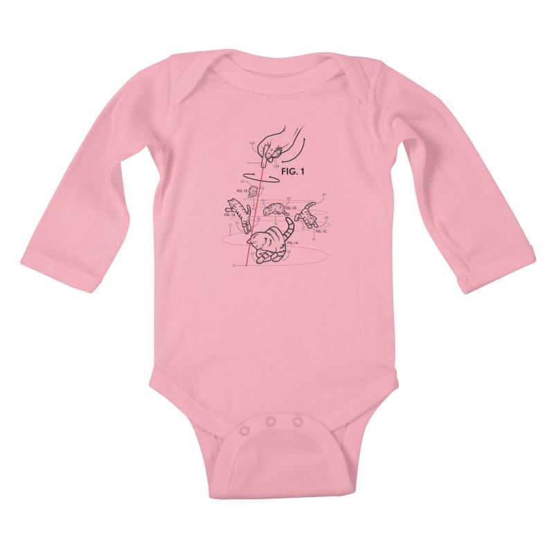 LazerCats! lite Kids Baby Longsleeve Bodysuit by mckibillo's Artist Shop
