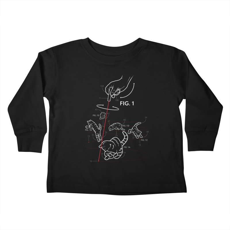 LazerCats! dark Kids Toddler Longsleeve T-Shirt by mckibillo's Artist Shop