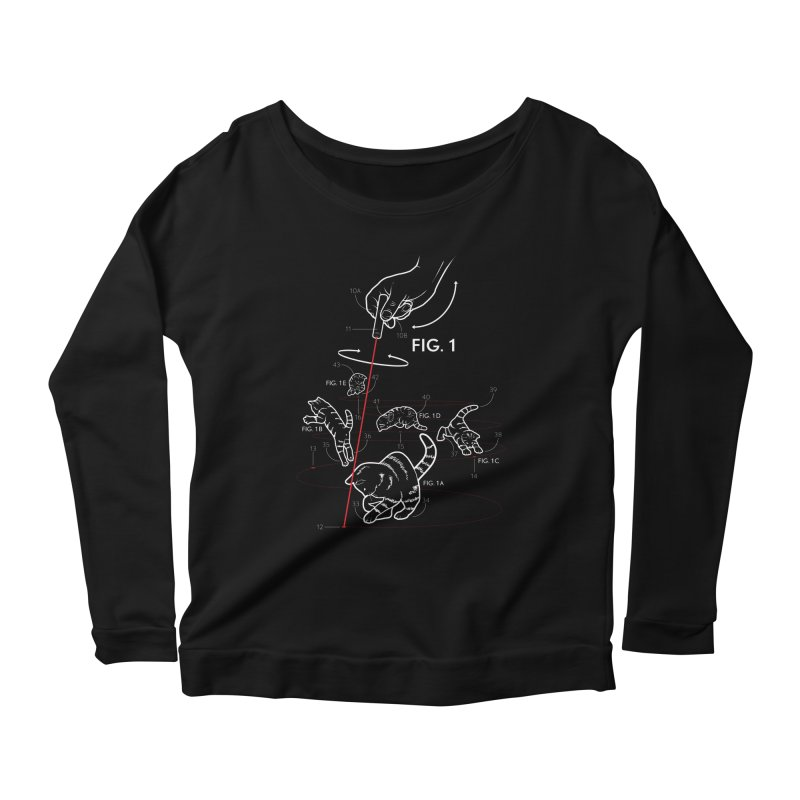 LazerCats! dark Women's Longsleeve Scoopneck  by mckibillo's Artist Shop