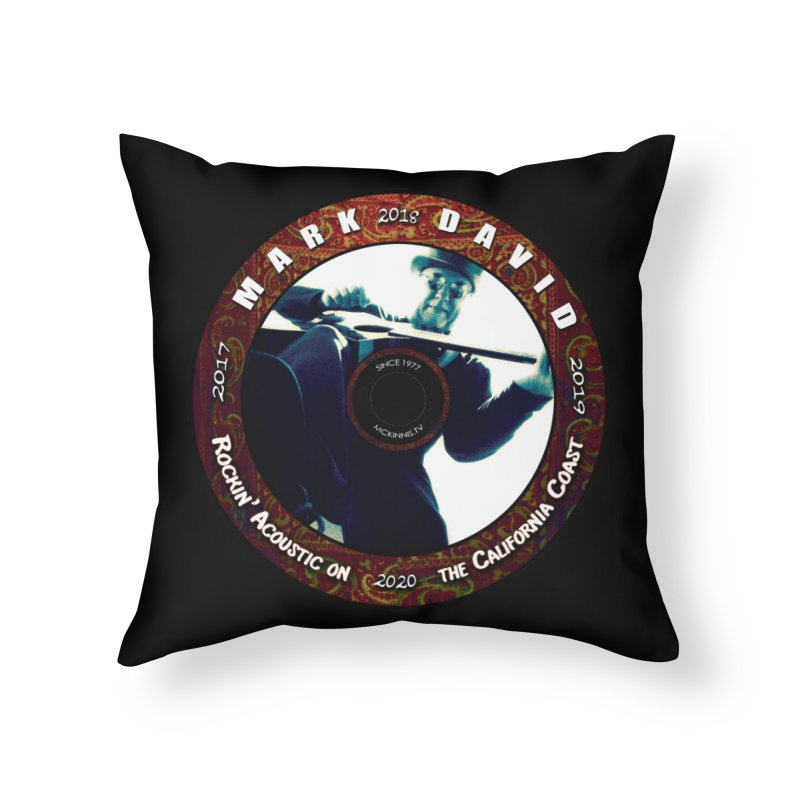 Official 2017-2020 Mark David Stamp in Throw Pillow by Mc Kinnis Entertainment's Artist Shop