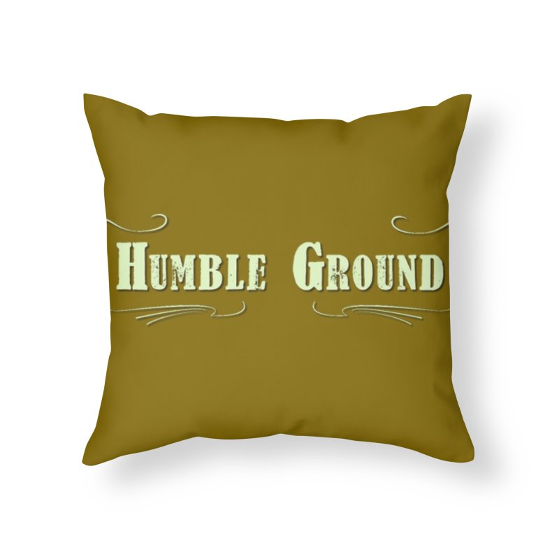 Humble Ground Logo on background in Throw Pillow by Mc Kinnis Entertainment's Artist Shop