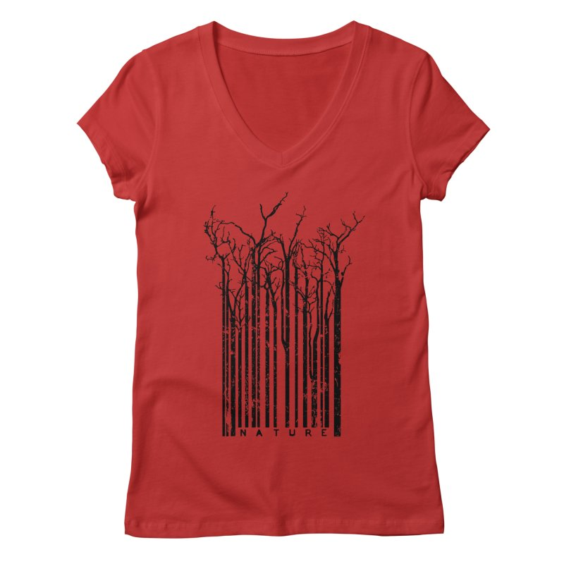 Nature's Identity Women's Regular V-Neck by McMaster Design