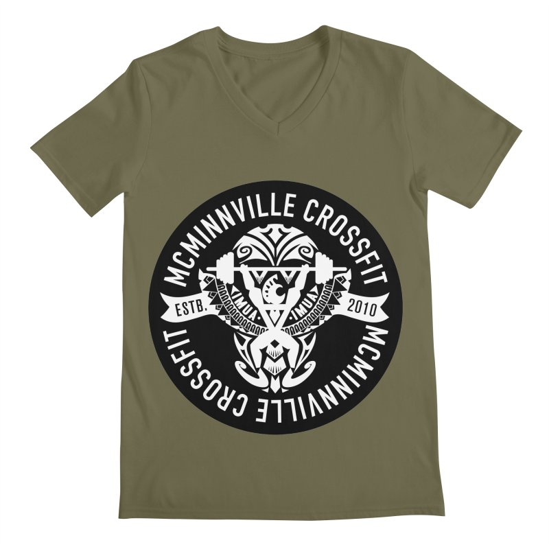McMinnville CrossFit Tribal Men's Regular V-Neck by McMinnville CrossFit Merch