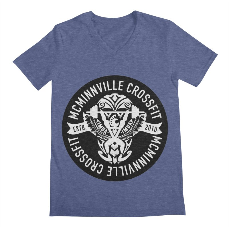 McMinnville CrossFit Tribal Men's V-Neck by McMinnville CrossFit Merch