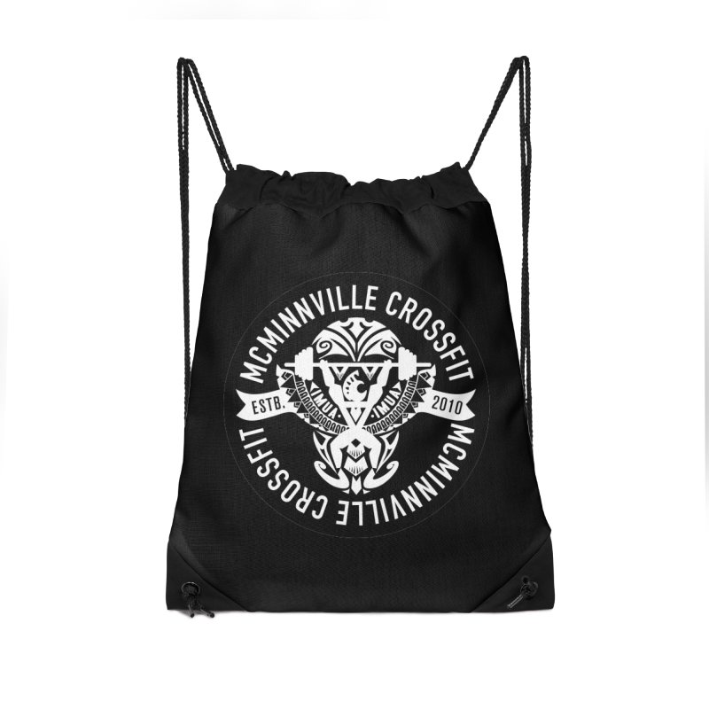 McMinnville CrossFit Tribal Accessories Drawstring Bag Bag by McMinnville CrossFit Merch
