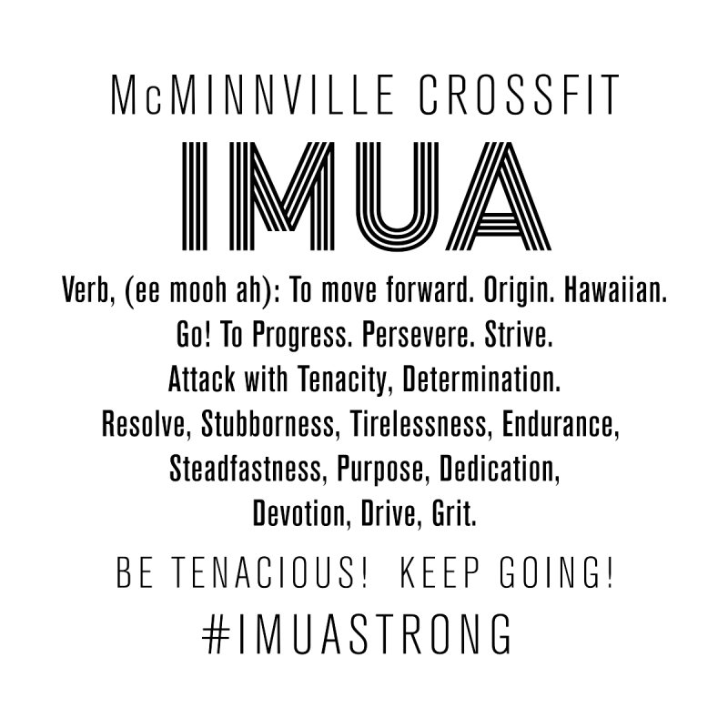 IMUA Definition Women's V-Neck by McMinnville CrossFit Merch