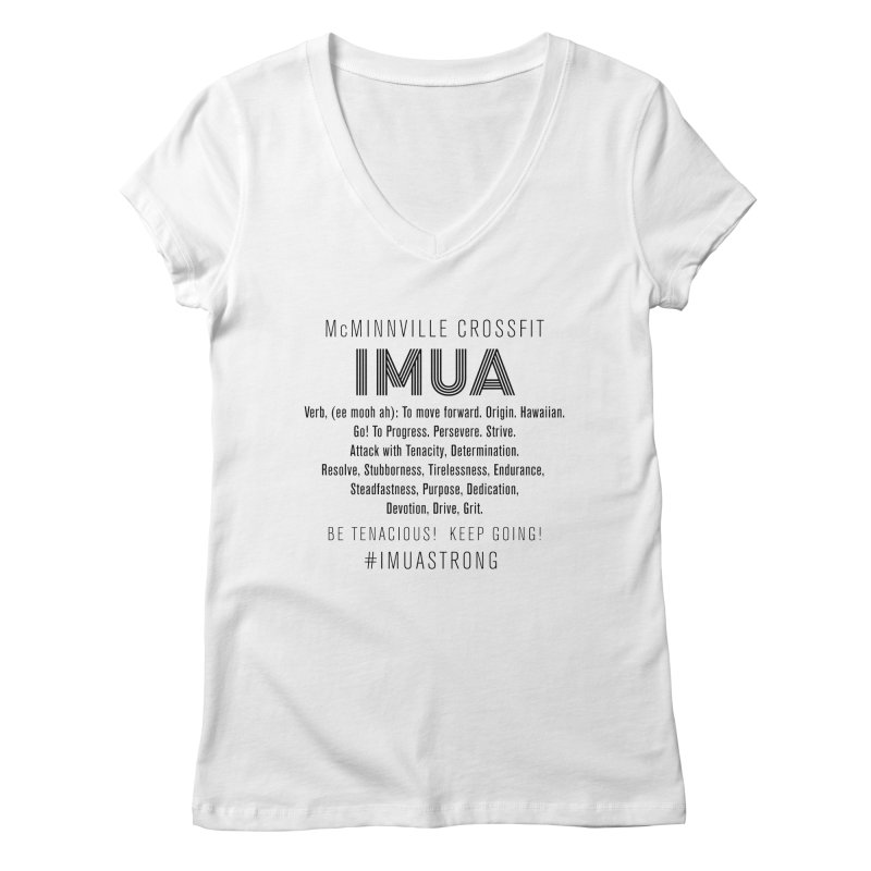IMUA Definition Women's Regular V-Neck by McMinnville CrossFit Merch