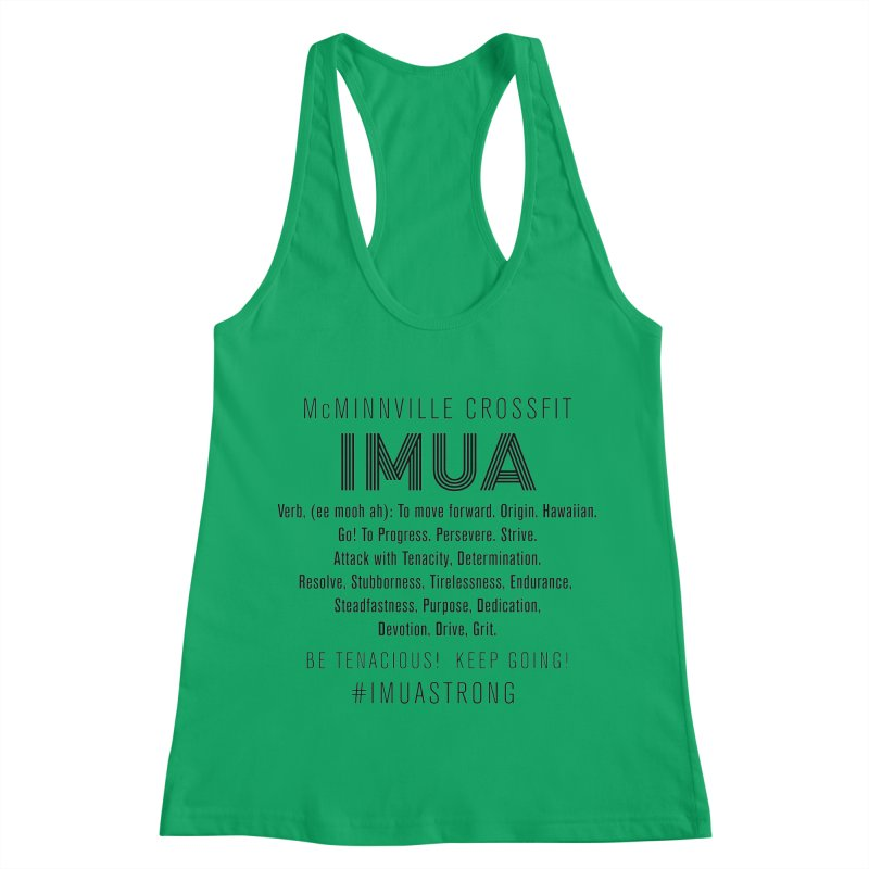 IMUA Definition Women's Racerback Tank by McMinnville CrossFit Merch