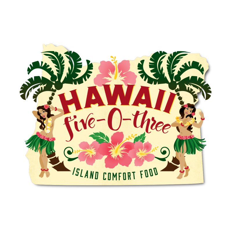 Hawaii Five-0-Three Home Bath Mat by McMinnville CrossFit Merch