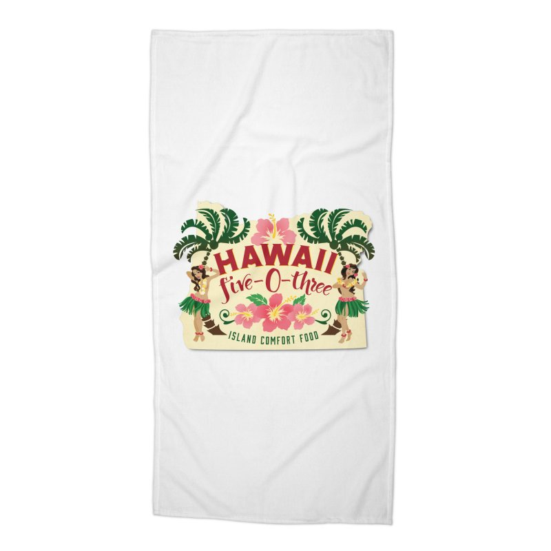 Hawaii Five-0-Three Accessories Beach Towel by McMinnville CrossFit Merch