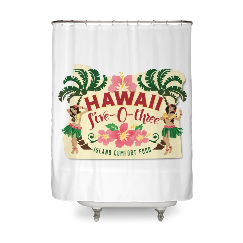 Hawaii Five-0-Three Home Shower Curtain by McMinnville CrossFit Merch