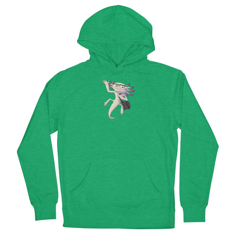 A is for Axolotl Men's French Terry Pullover Hoody by mcthrill's Artist Shop