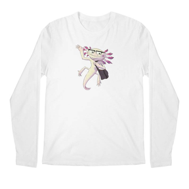 A is for Axolotl Men's Longsleeve T-Shirt by mcthrill's Artist Shop