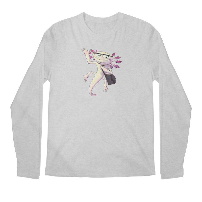A is for Axolotl Men's Regular Longsleeve T-Shirt by mcthrill's Artist Shop