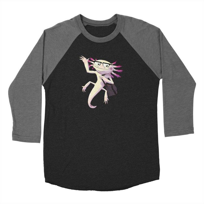 A is for Axolotl Men's Baseball Triblend T-Shirt by mcthrill's Artist Shop
