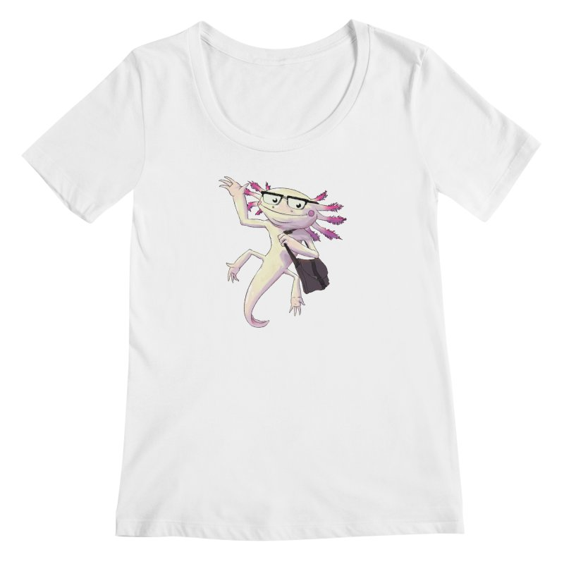 A is for Axolotl Women's Scoopneck by mcthrill's Artist Shop