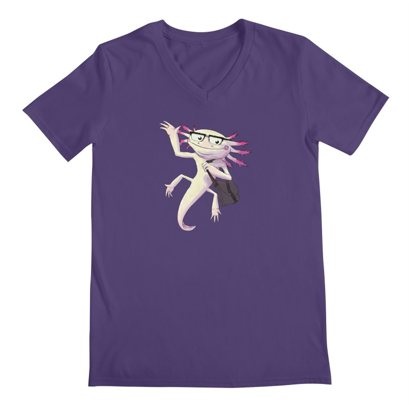A is for Axolotl Men's V-Neck by mcthrill's Artist Shop