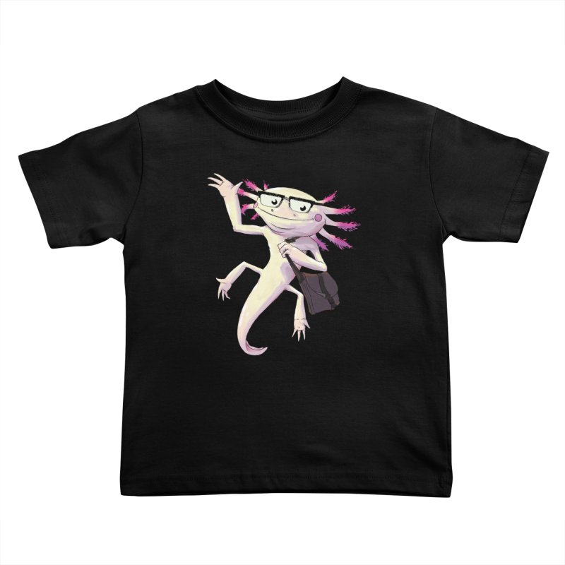 A is for Axolotl Kids Toddler T-Shirt by mcthrill's Artist Shop