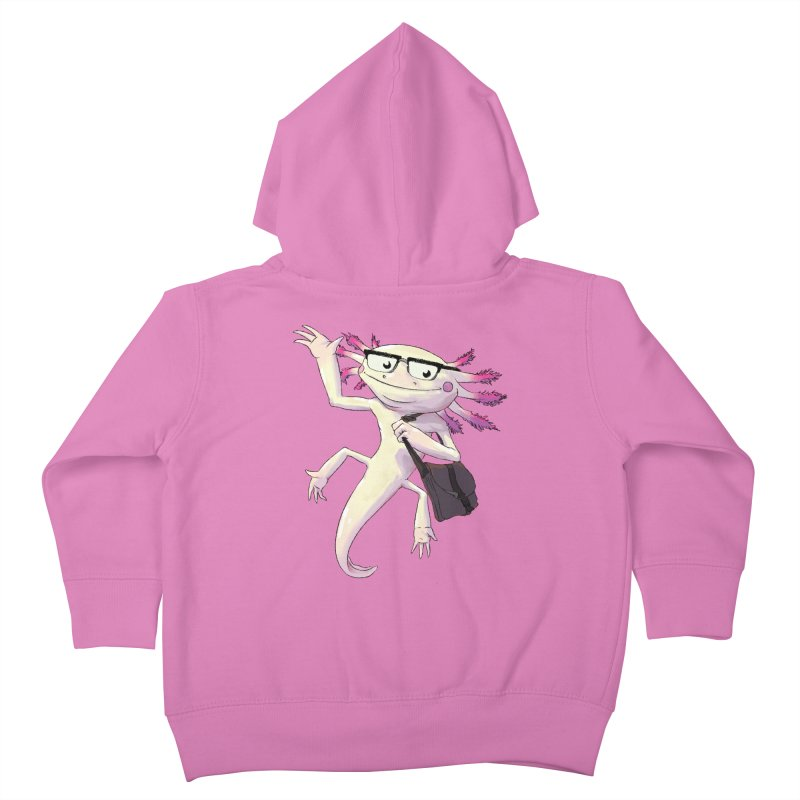 A is for Axolotl Kids Toddler Zip-Up Hoody by mcthrill's Artist Shop