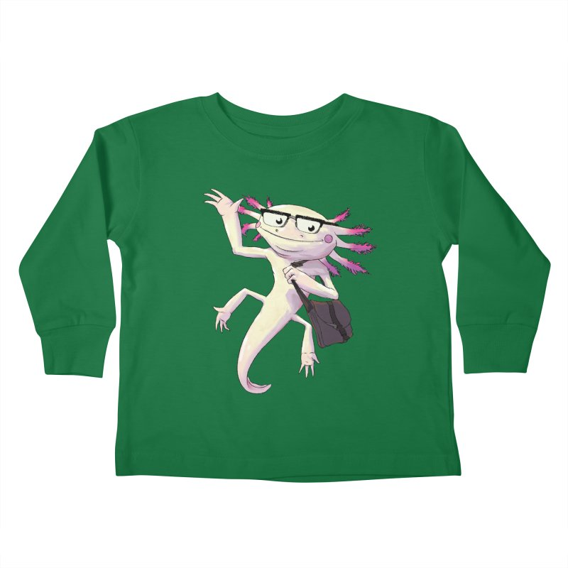 A is for Axolotl Kids Toddler Longsleeve T-Shirt by mcthrill's Artist Shop