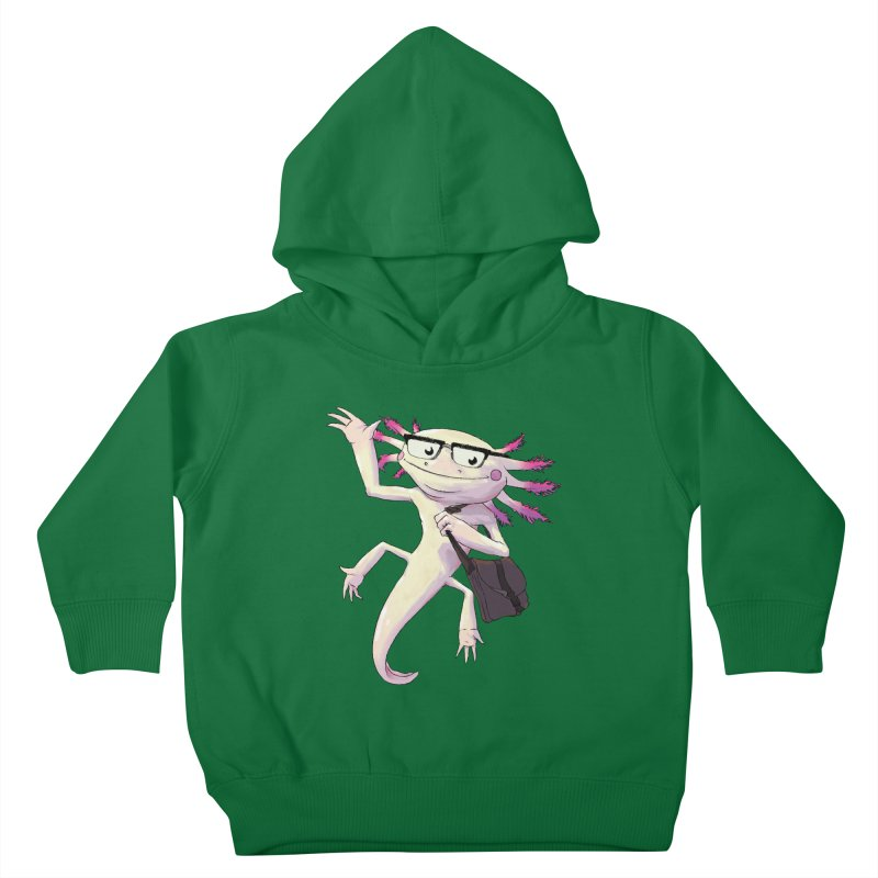 A is for Axolotl Kids Toddler Pullover Hoody by mcthrill's Artist Shop