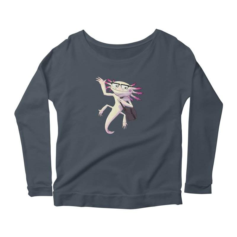 A is for Axolotl Women's Longsleeve Scoopneck  by mcthrill's Artist Shop