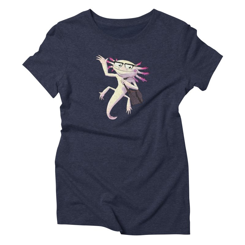 A is for Axolotl Women's Triblend T-Shirt by mcthrill's Artist Shop