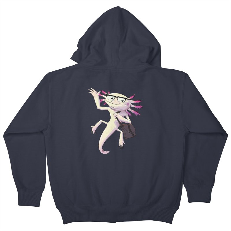 A is for Axolotl Kids Zip-Up Hoody by mcthrill's Artist Shop