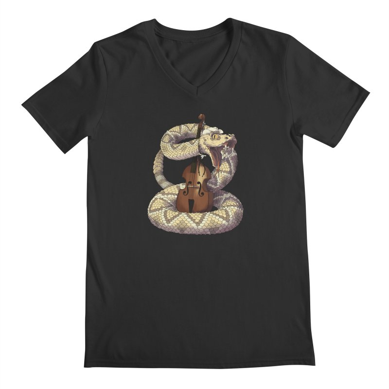 D is for Diamondback Men's V-Neck by mcthrill's Artist Shop