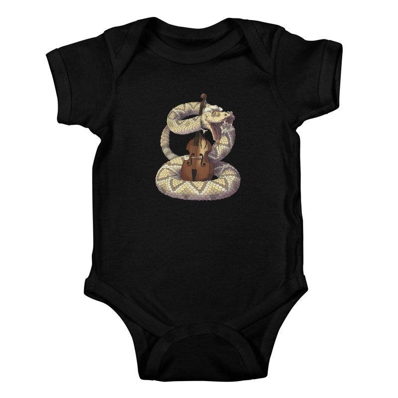 D is for Diamondback Kids Baby Bodysuit by mcthrill's Artist Shop