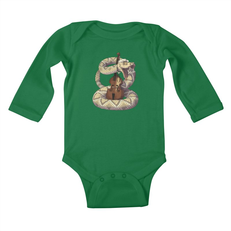 D is for Diamondback Kids Baby Longsleeve Bodysuit by mcthrill's Artist Shop
