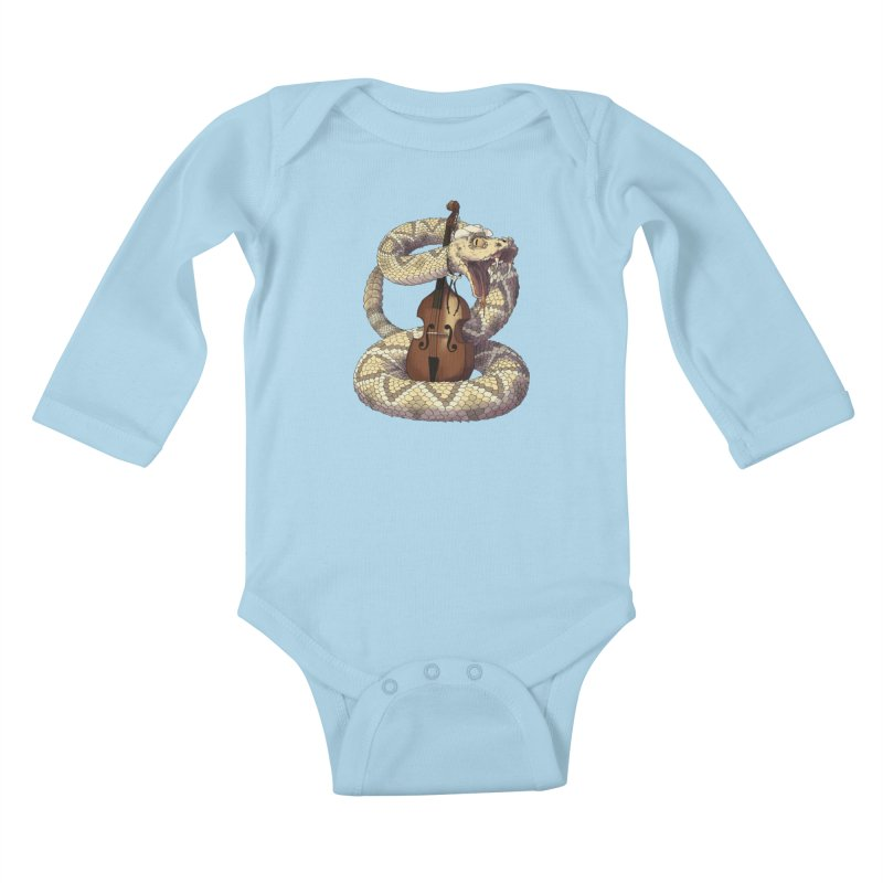 D is for Diamondback Kids Baby Longsleeve Bodysuit by mcthrill's Artist Shop