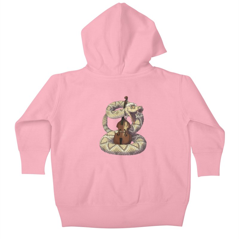 D is for Diamondback Kids Baby Zip-Up Hoody by mcthrill's Artist Shop