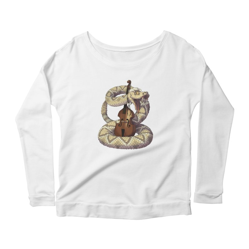 D is for Diamondback Women's Longsleeve Scoopneck  by mcthrill's Artist Shop