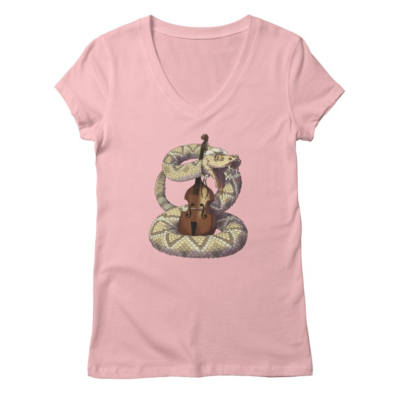 D is for Diamondback Women's V-Neck by mcthrill's Artist Shop