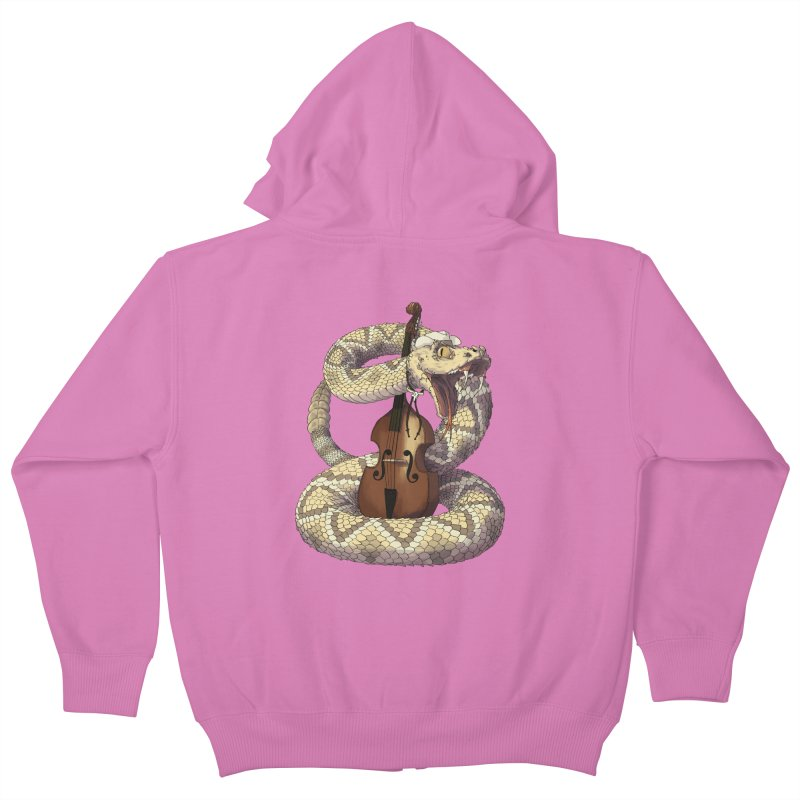 D is for Diamondback Kids Zip-Up Hoody by mcthrill's Artist Shop