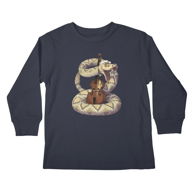 D is for Diamondback Kids Longsleeve T-Shirt by mcthrill's Artist Shop