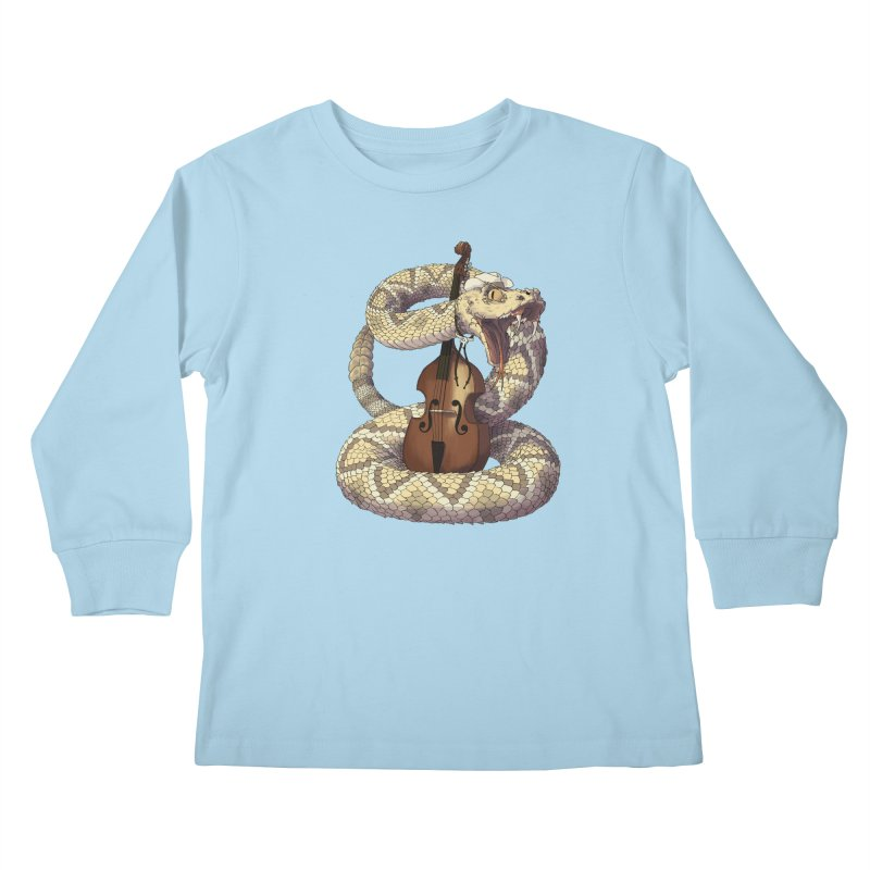 D is for Diamondback Kids Longsleeve T-Shirt by mcthrill's Artist Shop