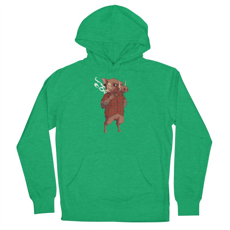 B is for Babirusa Women's French Terry Pullover Hoody by mcthrill's Artist Shop