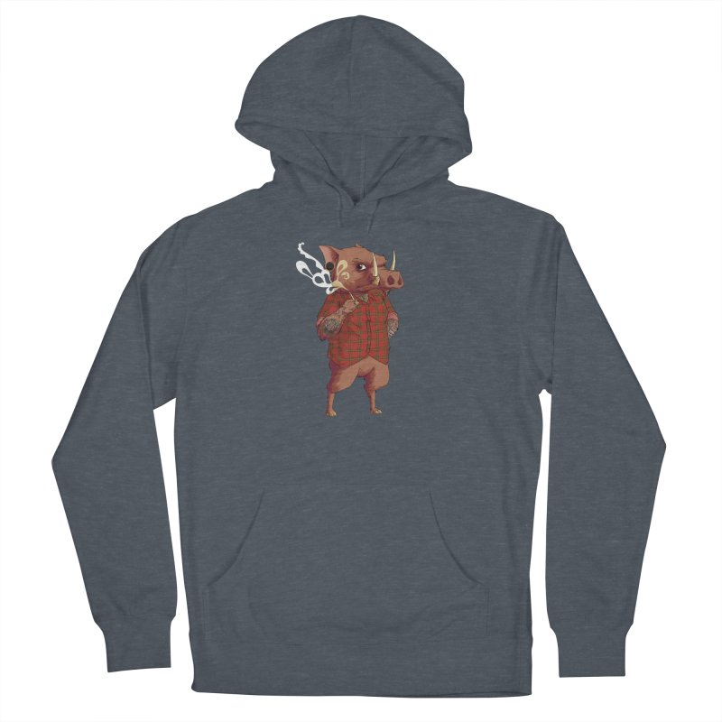 B is for Babirusa Men's French Terry Pullover Hoody by mcthrill's Artist Shop
