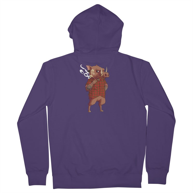 B is for Babirusa Women's French Terry Zip-Up Hoody by mcthrill's Artist Shop