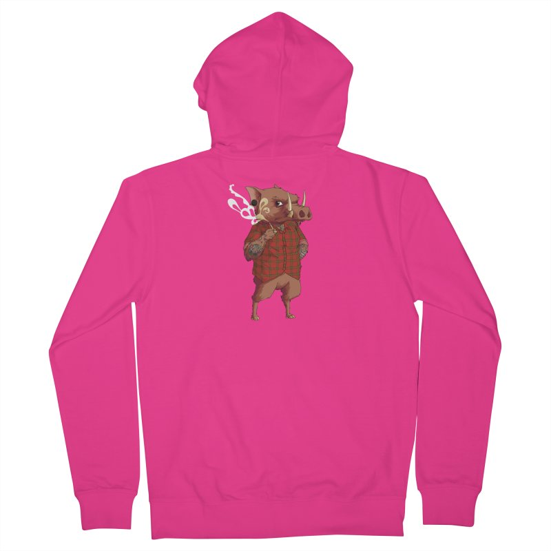 B is for Babirusa Men's Zip-Up Hoody by mcthrill's Artist Shop