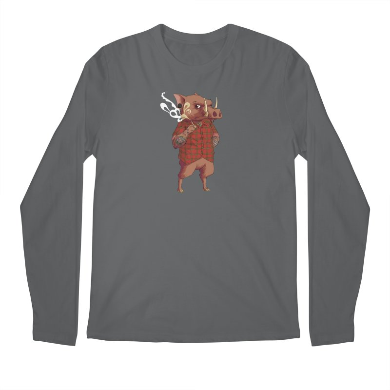 B is for Babirusa Men's Longsleeve T-Shirt by mcthrill's Artist Shop