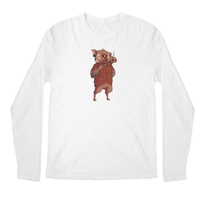 B is for Babirusa Men's Regular Longsleeve T-Shirt by mcthrill's Artist Shop