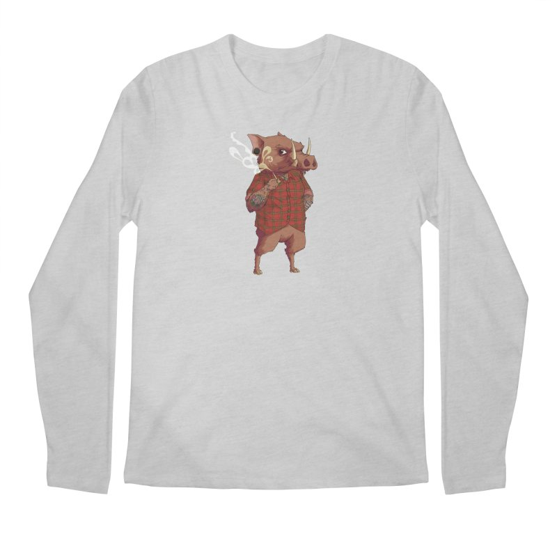 B is for Babirusa Men's Longsleeve T-Shirt by mcthrill's Artist Shop