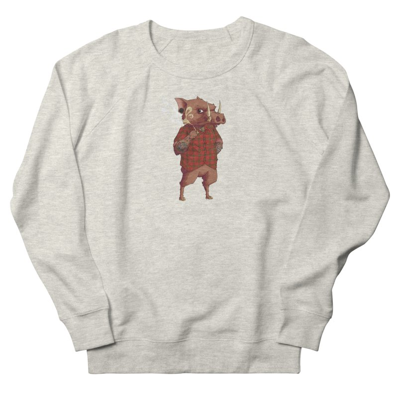 B is for Babirusa Women's French Terry Sweatshirt by mcthrill's Artist Shop