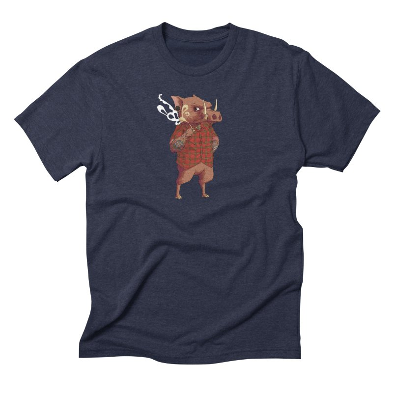 B is for Babirusa Men's Triblend T-Shirt by mcthrill's Artist Shop