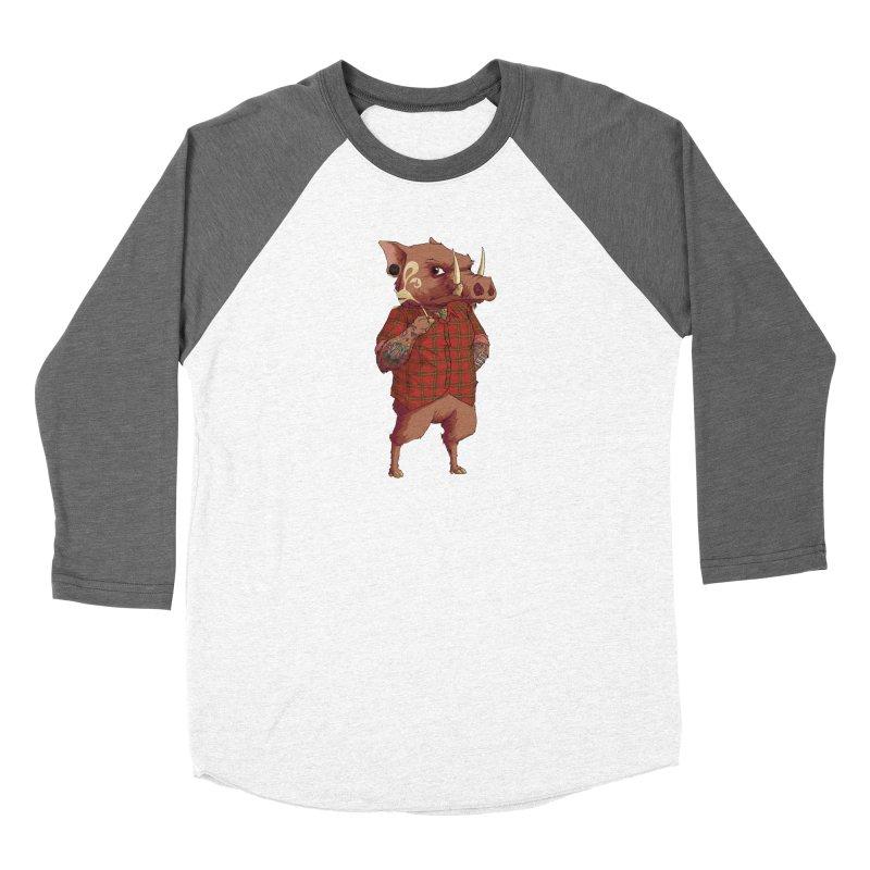 B is for Babirusa Women's Baseball Triblend T-Shirt by mcthrill's Artist Shop