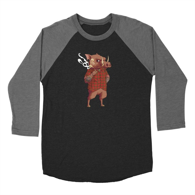 B is for Babirusa Women's Baseball Triblend Longsleeve T-Shirt by mcthrill's Artist Shop