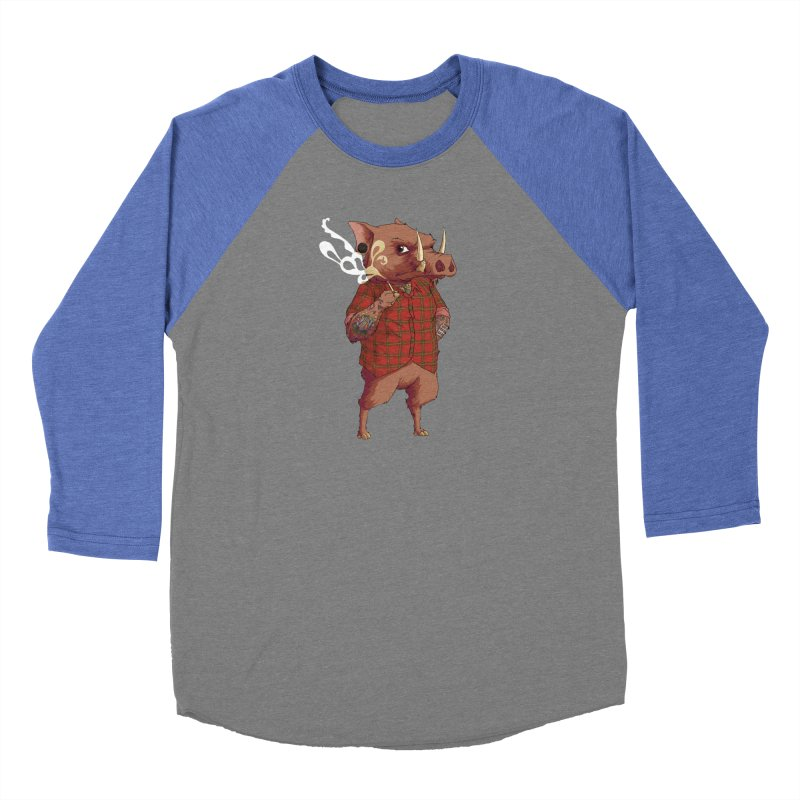 B is for Babirusa Men's Baseball Triblend Longsleeve T-Shirt by mcthrill's Artist Shop